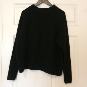 Black Free people sweater, runs large, 100% cotton